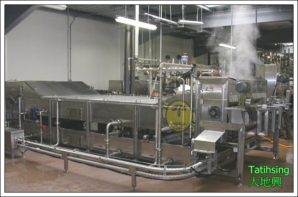 Double Decker Pasteuriser And Cooling Machine For PS Box Tofu